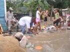Desplazados por lluvias en Imbert