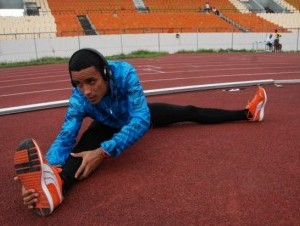 Santos salió en el carril número 4, el destinado para el corredor de mejor récord durante el año.