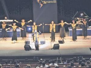 El grupo Harlem Gospel Choir se presentó en el Teatro Nacional Eduardo Brito.