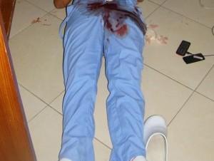 Cadáver de Raquel Daneris Núñez.