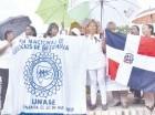 Las enfermeras se apostaron en el parque Benito Juárez frente a la casa de Gobierno.