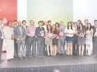 Ejecutivos de Odebrecht posan junto a los galardonados  de la cuarta edición del Premio Odebrecht para el Desarrollo Sostenible.