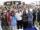 Miguel Vargas durante encuentro con dirigentes de las cuatro provincias de la Línea Noroeste y de Santiago