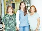 Mildred de Sánchez Nobles, Lidia Viyella y Nurys Valdez.