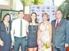 Liz Rivas, Sergio Leiro, Noemí Iglesias, Paulina Morales de Barrera y el embajador Fernando Barrera.