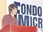 Marina Ortiz, directora ejecutiva del FondoMicro, en un acto anterior.