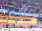 El incendio en el estadio Cibao ocurrió el miércoles en la mañana.