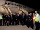 El avión Jumbo B747-800 de la línea bandera de Francia llegó a La Romana a las 6:25 de la tarde del domingo.