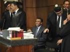 El senador Félix Bautista durante la audiencia en su contra (archivo).