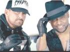 Carlix (derecha) junto al cantante Luciano J.R.