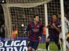 El argentino Lionel Messi festeja tras anotar el gol de la victoria sobre el Atlético de Madrid, en la ida de los cuartos de final de la Copa del Rey.