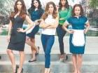 """De izquierda a derecha Roselyn Sánchez, Edy Ganem, Ana Ortiz, Dania Ramírez y Judy Reyes de la serie de Lifetime """"Devious Maids""""."""