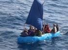 Una balsa con emigrantes cubanos.