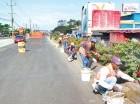 La carretera Joaquín Balaguer está en proceso de reparación.