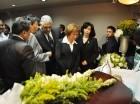 Miguel Vargas en el funeral de Ana María Acevedo.