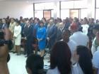 El presidente Danilo Medina estuvo acompañado de su esposa, Cándida Montilla de Medina.