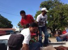 Presuntos cuatreros detenidos en Dajabón.