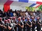 San Francisco de Macorís. El presidente Danilo Medina asistió a diversas actividades oficiales para conmemorar el 202 aniversario del nacimiento del padre de la Patria, Juan Pablo Duarte. Los actos incluyeron un desfile cívico-militar en honor al patri
