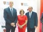 José Rafael Abinader Corona, Miriam Céspedes y Reynaldo Salcedo.