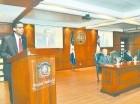 El juez Francisco Ortega Polanco en la presentación de su libro.