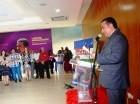 Víctor Pavón, presidente del Movimiento de Unidad, Renovación y Orden (Muro), habla ante miembros de esa organización.