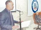 El general Ricardo Rosa Chupany durante la apertura del curso.
