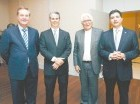 Gabriel Escarrer Juliá, René Grullón, Miguel Fluxá Roselló y Christopher Paniagua.
