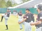 La mayoría de los refuerzos de los Gigantes del Cibao entrenaron ayer en el estadio Julián Javier.
