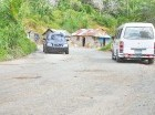 Las carreteras se encuentran en malas condiciones.