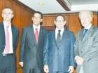 Ricardo Rivero Ortega, Francisco Polanco Ortega, Mariano Germán Mejía y José Luis Corripio Estrada.