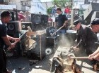 Durante un acto encabezado por el procurador General, Francisco Domínguez Brito, y el jefe de la Policía Nacional, mayor general Manuel Castro Castillo, los representantes de la Procuraduría Especializada de Medio Ambiente destruyeron mil equipos de so