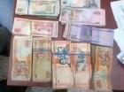 Dinero decomisado por la DNCD en Santiago.