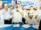 Hipólito Mejía juramenta equipo.